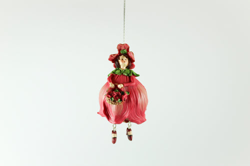 Amsterdam Tulip Museum Poppy Red Tulip Fairy Tree Ornament