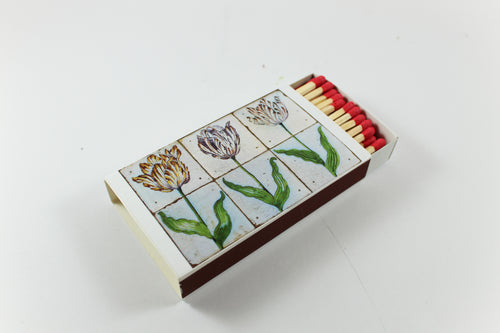 Tiled Tulips Amsterdam Tulip Museum Match Box Matches