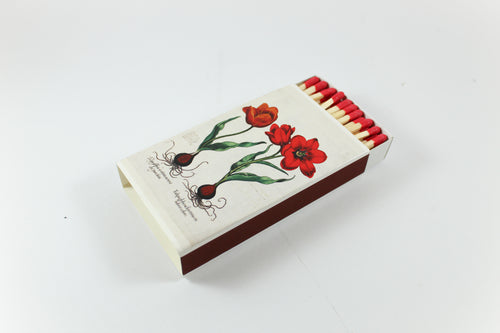 Red Explosion Amsterdam Tulip Museum Match Box Matches