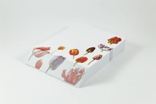Amsterdam Tulip Museum Tulip Stationery Desk Notepad Collage of Tulips by Anita Walsmit Sachs