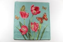 Amsterdam Tulip Museum Pink Tulips & Butterflies Large Pillow Cover