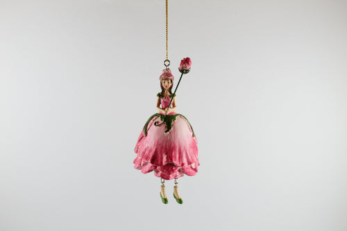 Amsterdam Tulip Museum Tulip Pink Flower Fairy Tree Ornament