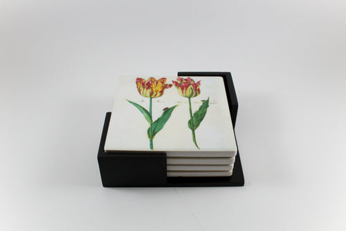 Amsterdam Tulip Museum Jacob Marrel Flared Tulip Ceramic Coaster Set