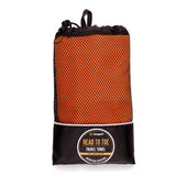 Snugpak Quick Drying Orange Full Body Travel Towel for Camping and Trips in a Carrying Pouch