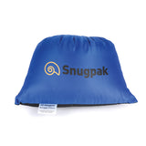 Snugpak Light Blue Travel Pillow Packed Into Its Integrated Stuff Sack