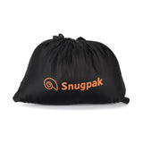 Snugpak Black Travel Pillow Packed Into Its Integrated Stuff Sack