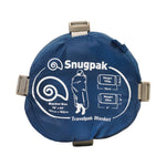 Snugpak Travelpak Petrol Blue Travel Blanket in its Stuff Sack