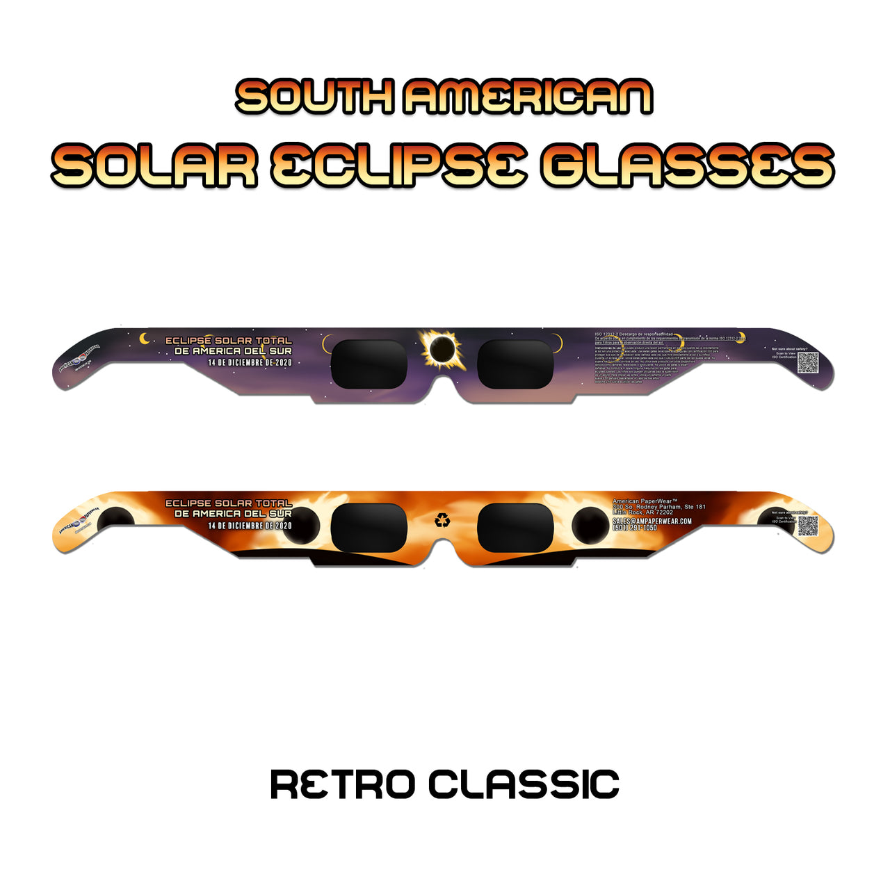 Solar Eclipse Glasses for South American Solar Eclipse, 2020 - American Paperwear