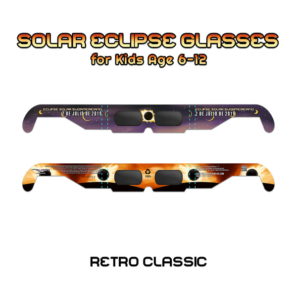 Solar Eclipse Shades for Kids, Retro Classic - American Paperwear