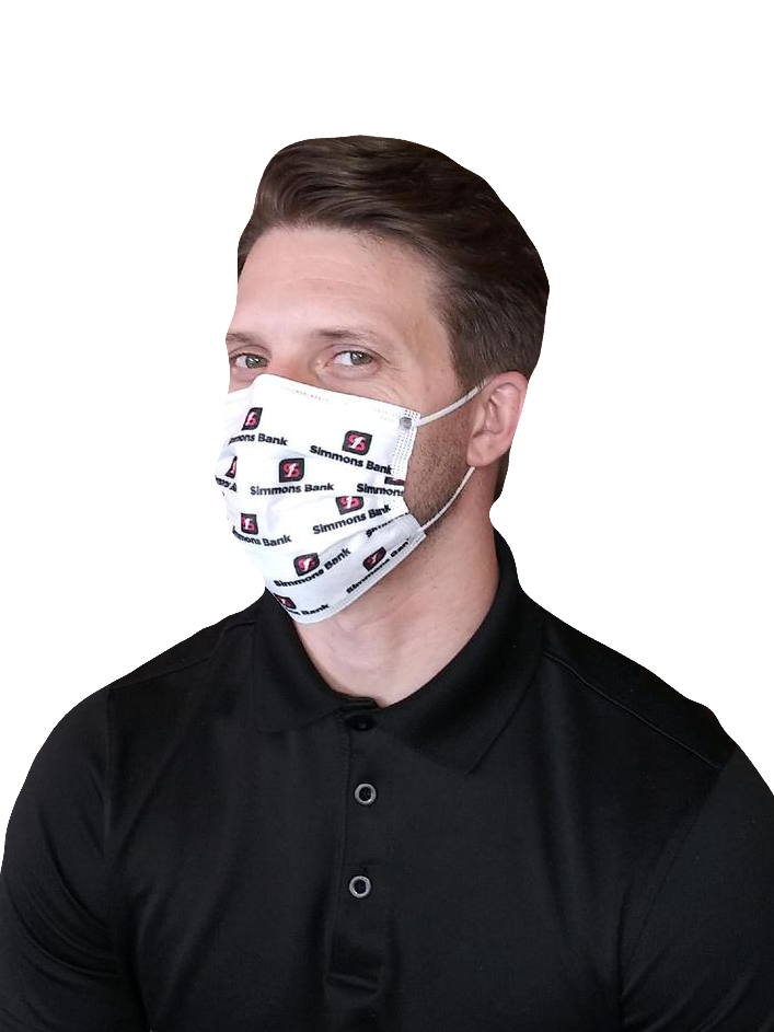 Imprinted 3-Ply Disposable Face Masks