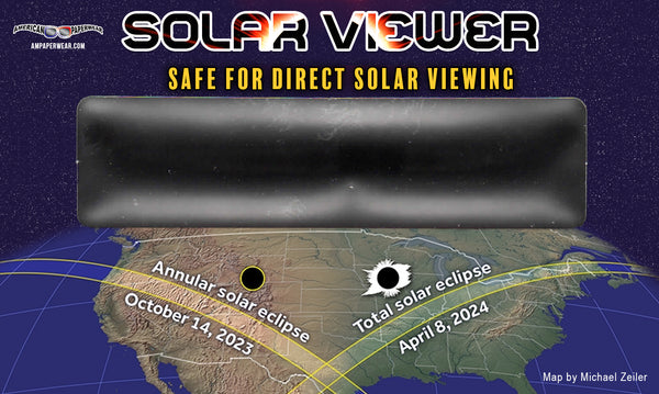 American Eclipse Solar Viewer card - American Paperwear