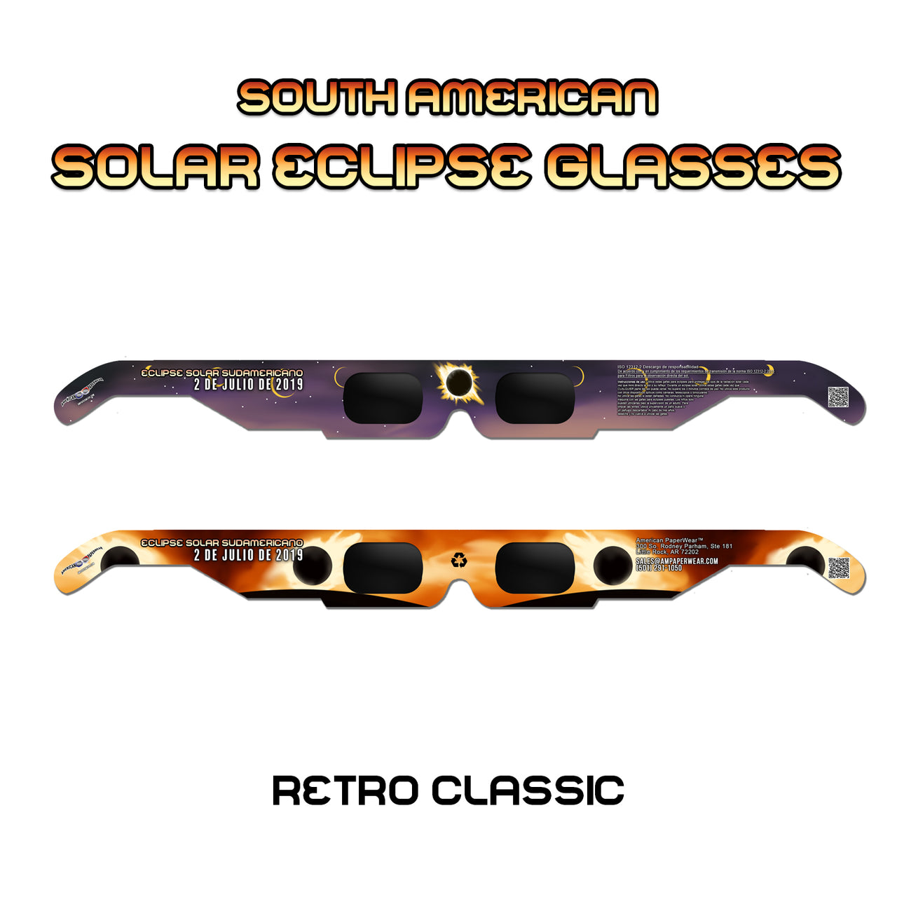 Solar Eclipse Glasses for South American Solar Eclipse, 2019 - American Paperwear