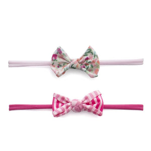 Baby Bling Mini Print Skinny Bow Baby Bling - Babies in Bloom