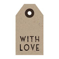 With Love Brown Label