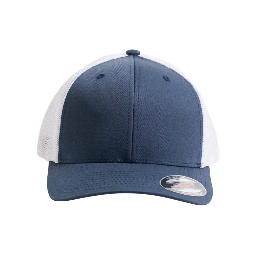 93607aa2 Flexfit Trucker Mesh Cap. Navy & White ...