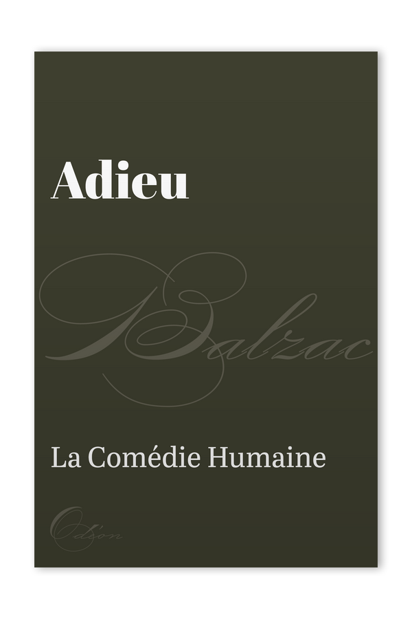 The front cover of Adieu by Honoré de Balzac
