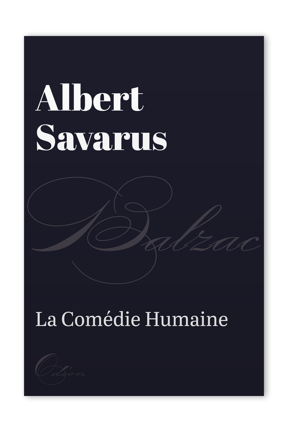 The front cover of Albert Savarus by Honoré de Balzac