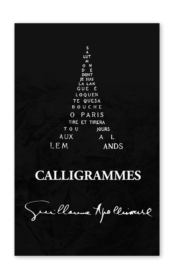 Front cover of Calligrammes by Guillaume Apollinaire