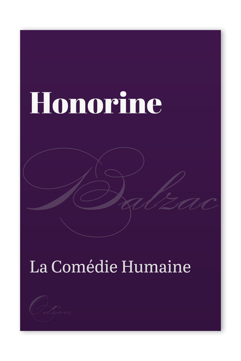 The front cover of Honorine by Honoré de Balzac