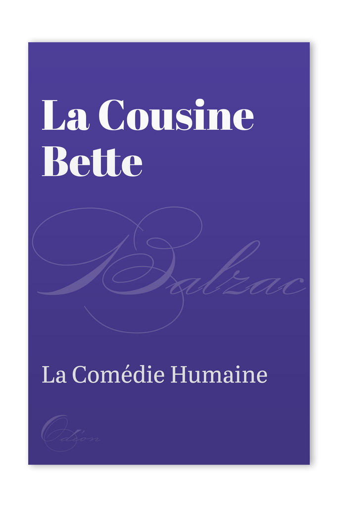 The front cover of La Cousine Bette by Honoré de Balzac