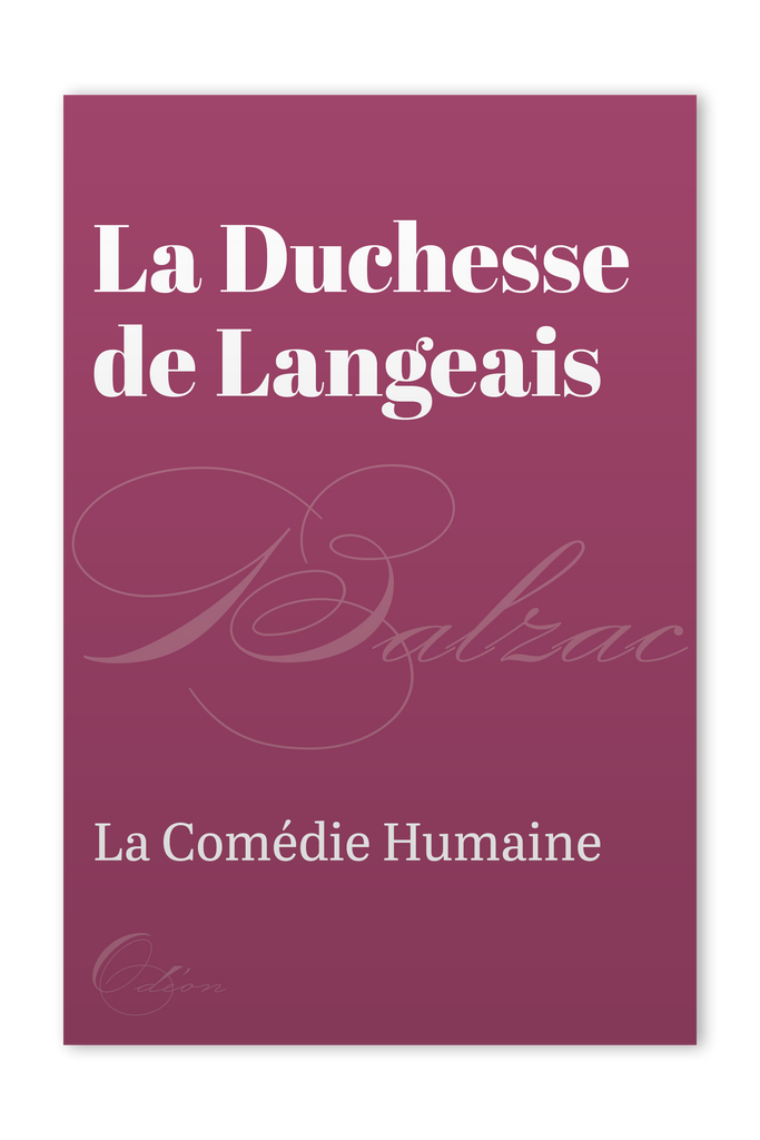 The front cover of La Duchesse de Langeais by Honoré de Balzac