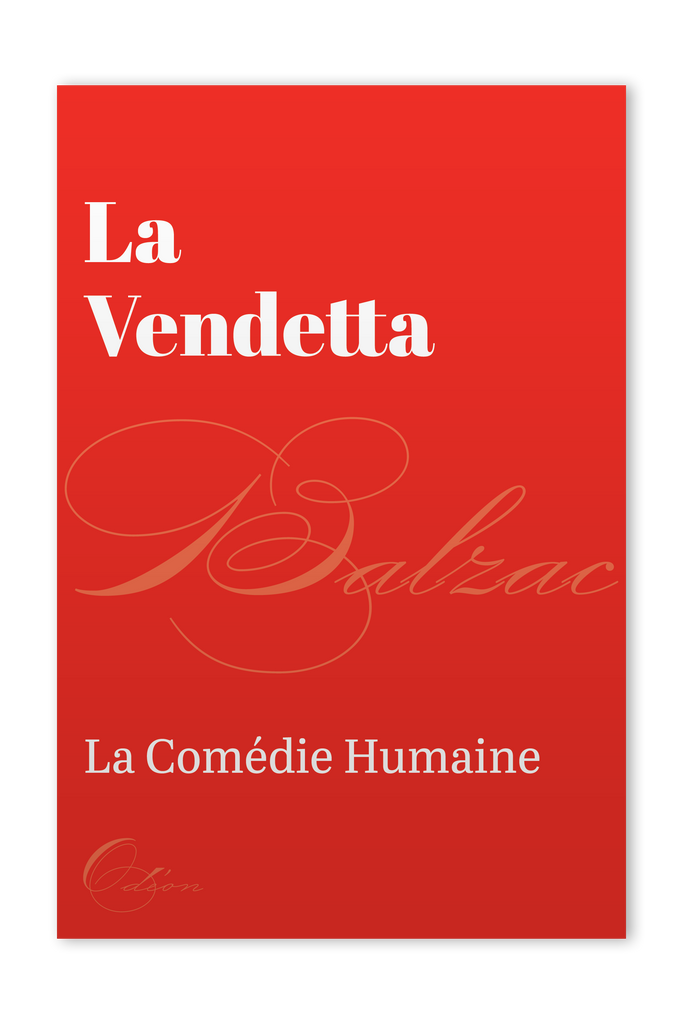The front cover of La Vendetta by Honoré de Balzac