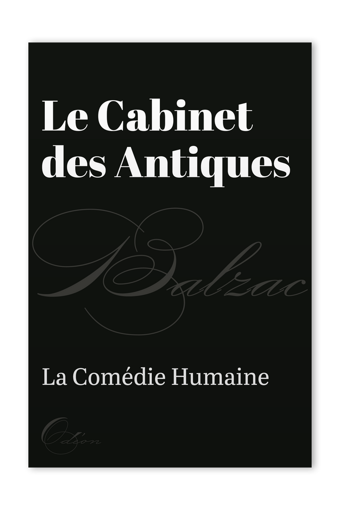 The front cover of Le Cabinet des Antiques by Honoré de Balzac
