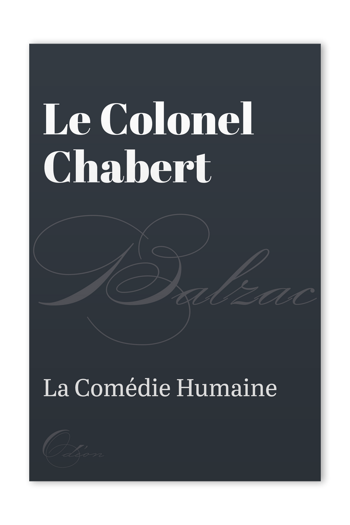 The front cover of Le Colonel Chabert by Honoré de Balzac