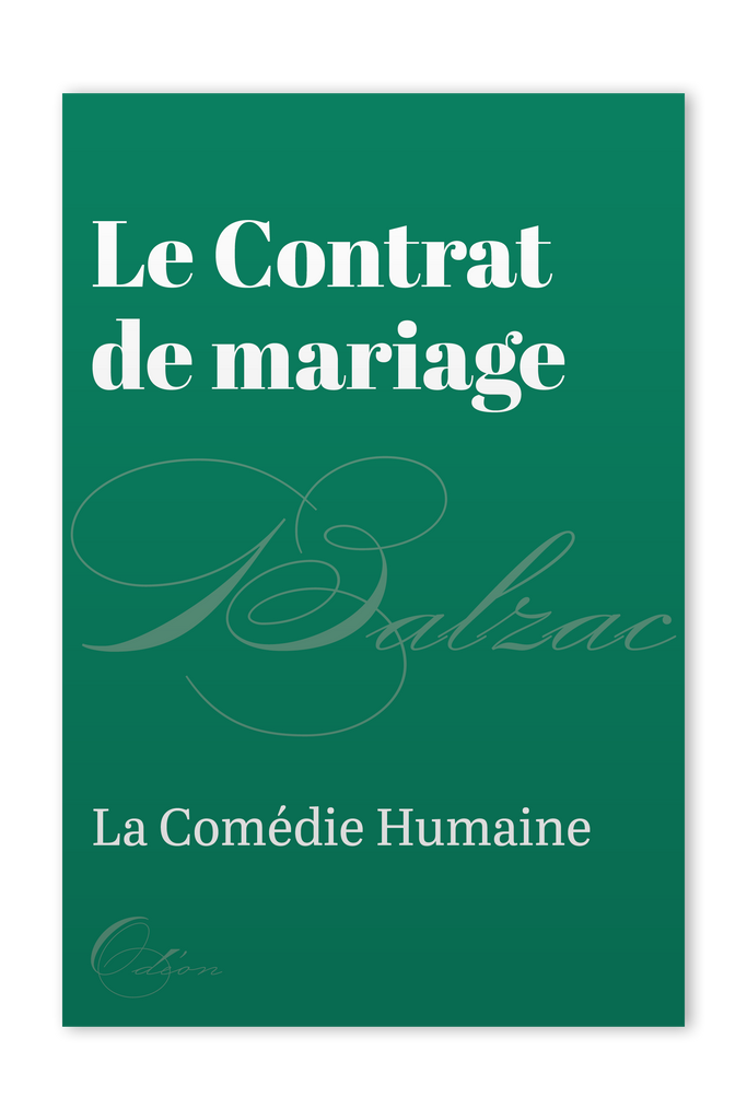 The front cover of Le Contrat de mariage by Honoré de Balzac