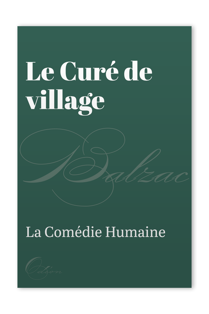 The front cover of Le Curé de village by Honoré de Balzac