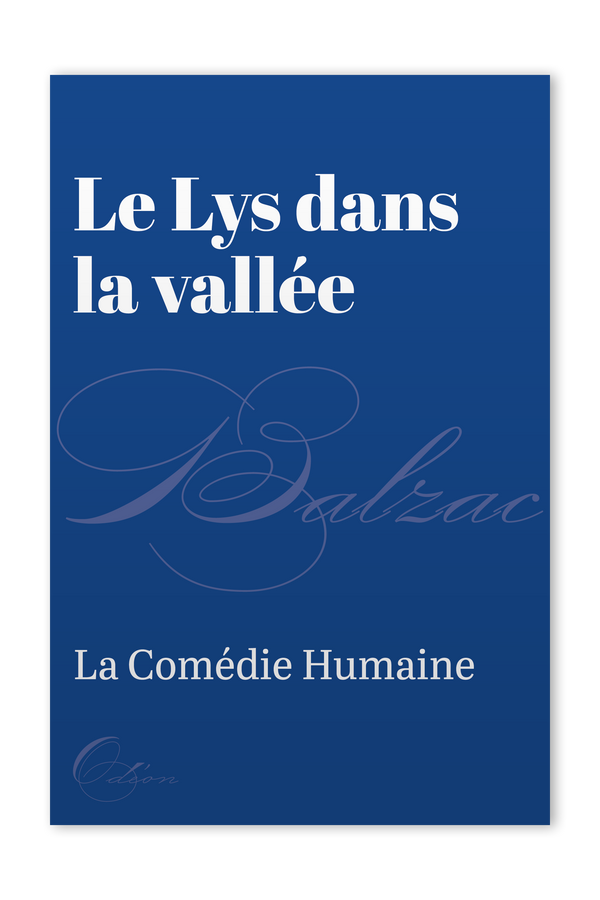 The front cover of Le Lys dans la vallée by Honoré de Balzac