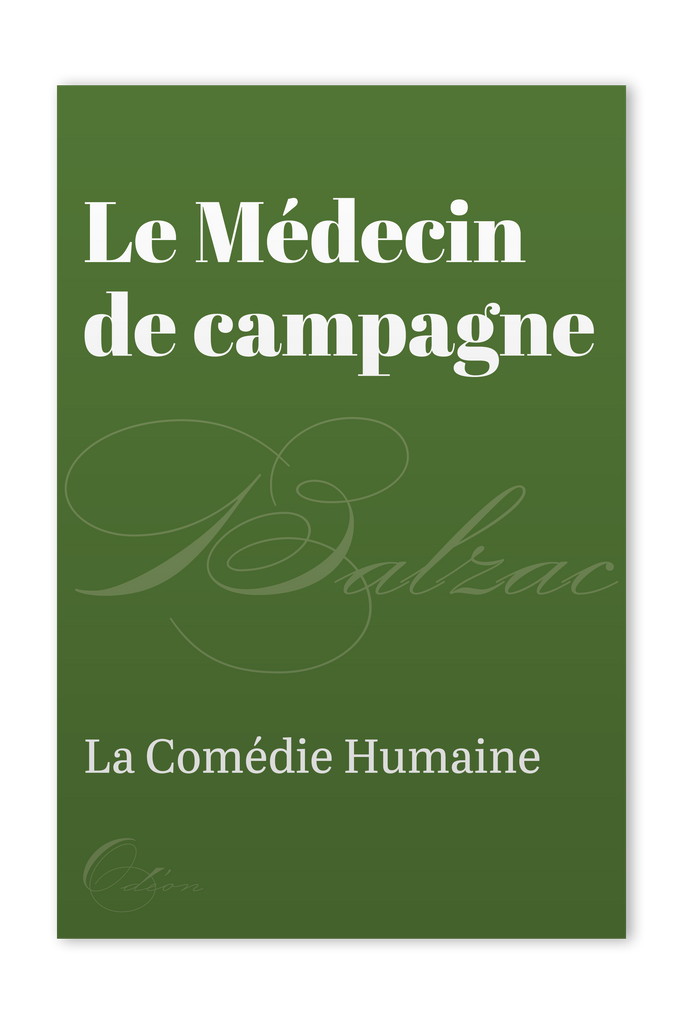The front cover of Le Médecin de campagne by Honoré de Balzac