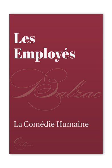The front cover of Les Employés by Honoré de Balzac