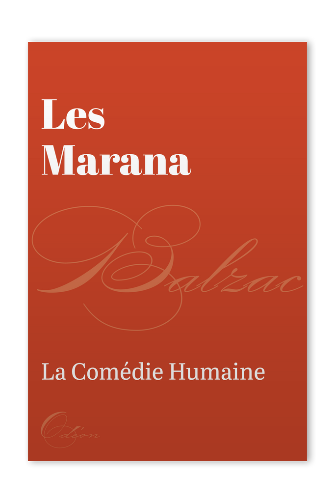 The front cover of Les Marana by Honoré de Balzac