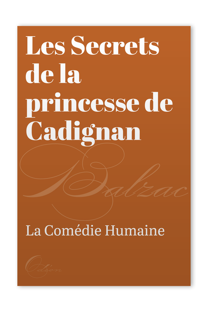The front cover of Les Secrets de la princesse de Cadignan by Honoré de Balzac