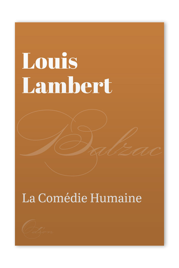 The front cover of Louis Lambert by Honoré de Balzac