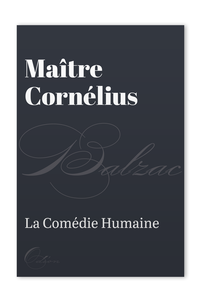 The front cover of Maître Cornélius by Honoré de Balzac