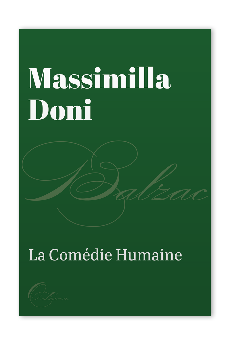 The front cover of Massimilla Doni by Honoré de Balzac