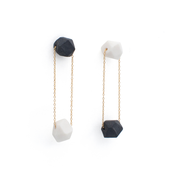 thread-earrings-black-and-white