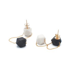 porcelain-dangly-earrings-in-black-and-white