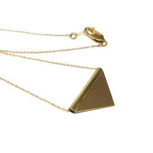 Simple Triangle Necklace in Brass
