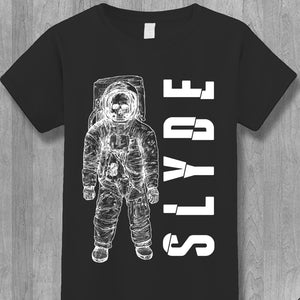 The Slyde Back Again Astronaut T-Shirt (Women's Black)
