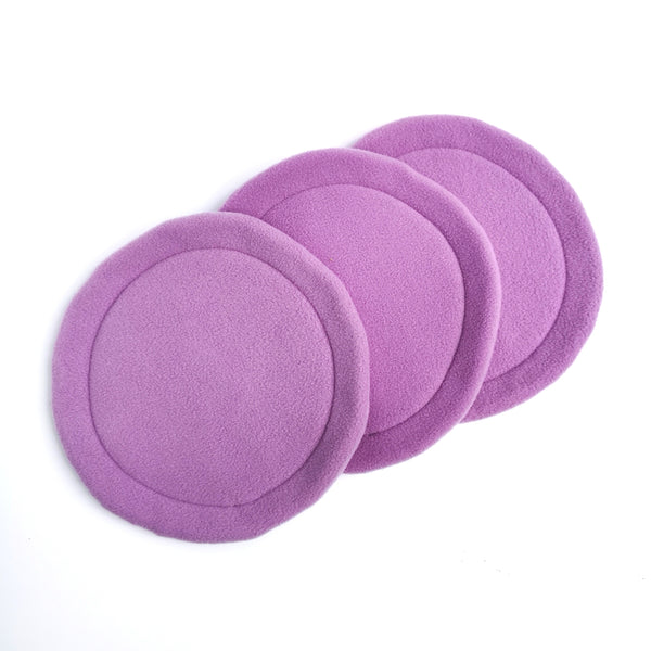 Choose Your Own Fleece Set of 3 Absorbent Mats for Cuddle Cup Bed (Plain Colours)