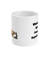 wheek eat poop repeat guinea pig mug