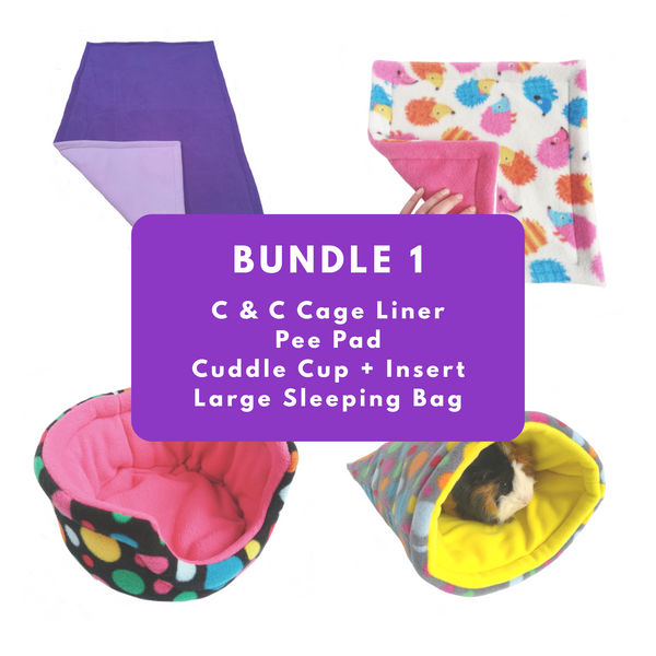 fleece guinea pig cage set bundle