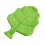 bright green lettuce leaf shaped absorbent fleece mat for small pets