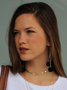 Coin Choker With Circle Detail - Femme Fête