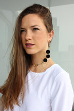 Pom Pom Earrings - Black - Femme Fête