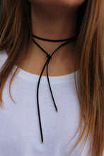 Layered Suede Necklace - Black - Femme Fête