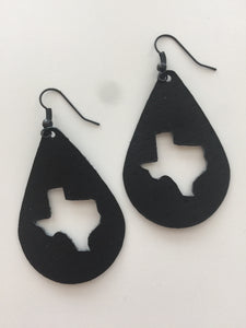 Texas teardrop earrings